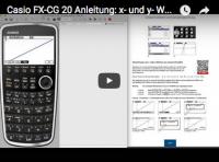 Casio FX-CG 20: lineare Funktionen eingeben