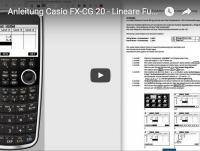 Casio FX-CG 20 lineare Funktionen