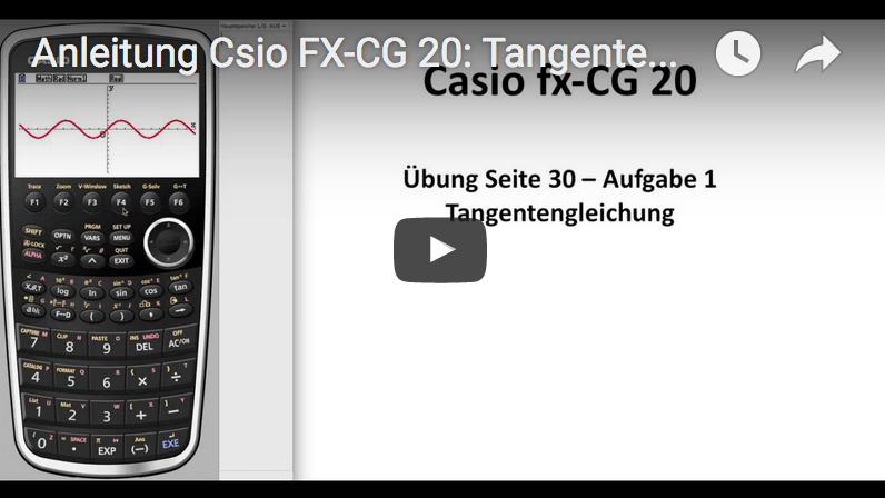casio fx cg20 bedienungsanleitung aufgabe tangente. Black Bedroom Furniture Sets. Home Design Ideas