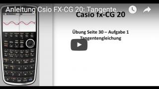 Casio FX-CG 20: Tangentengleichung finden