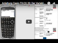 Casio FX-CG 20: Varaiblenspeicher