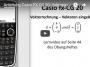 Casio FX-CG 20: Vektoren eingeben Vektoren speichern