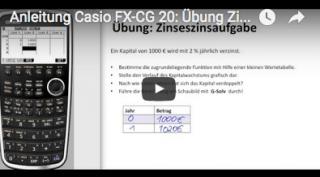 Casio FX-CG 20 Zinseszins