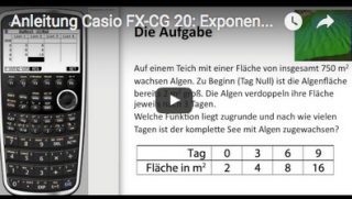 Casio FX-CG 20 exponentielle Regression