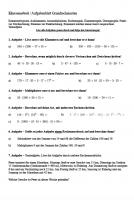 Klassenarbeit Grundrechenarten