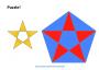 Pentagramm Puzzle zum Ausschneiden