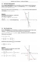 Lineare Funktionen Aufgaben Skript