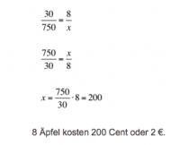 Verhältnisgleichung Beispiel