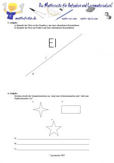 Arbeitsblatt Geometrie Spiegelungen