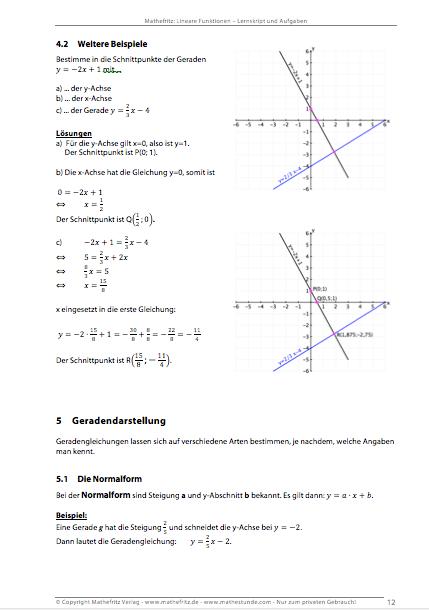 Lineare Funktionen Aufgaben und lineare Funktionen Textaufgaben