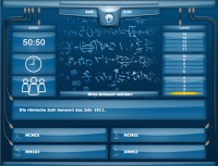 Mathe Quiz online im Stile von Wer wird Millionär