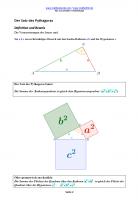 Beweise und Herleitungen Pythagoras