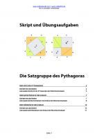 Skript Satz des Pythagoras, Höhensatz, Kathetensatz