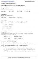 Arbeitsblatt Potenzen und Exponentialfunktion