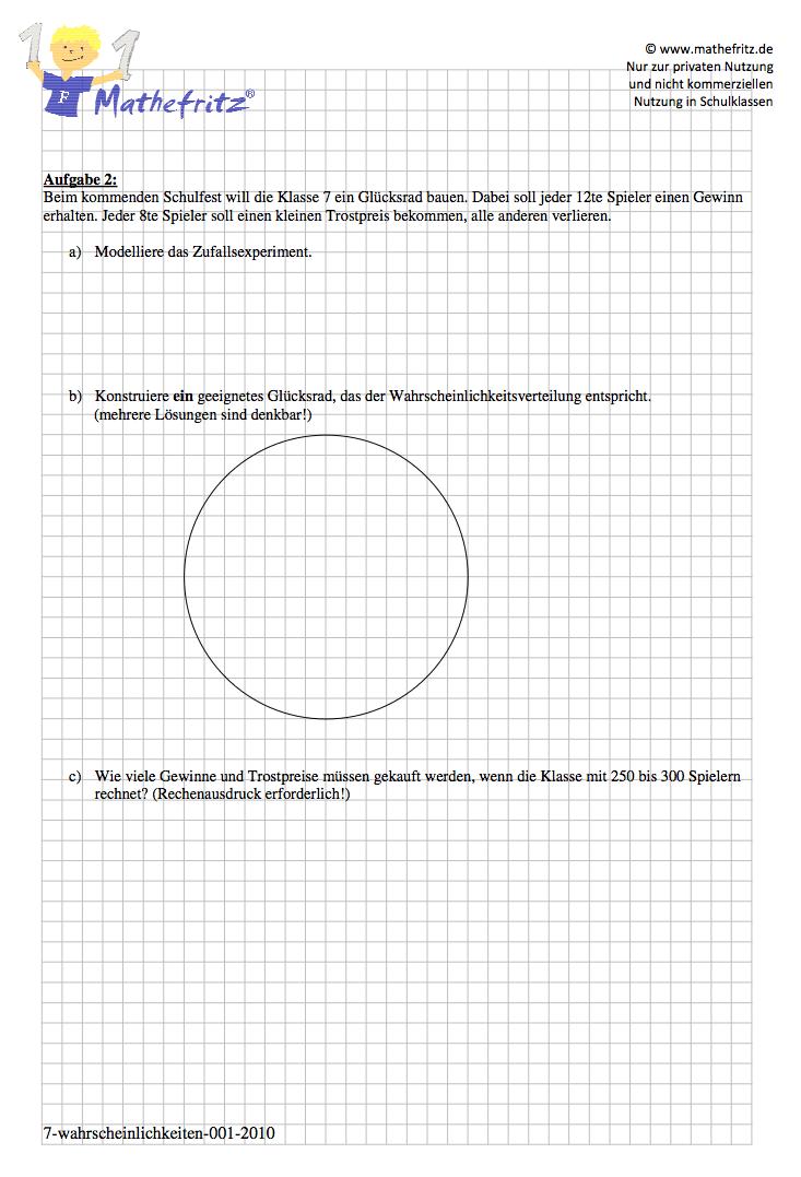 Wahrscheinlichkeitsrechnung Aufgaben Baumdiagramm Arbeitsblatt
