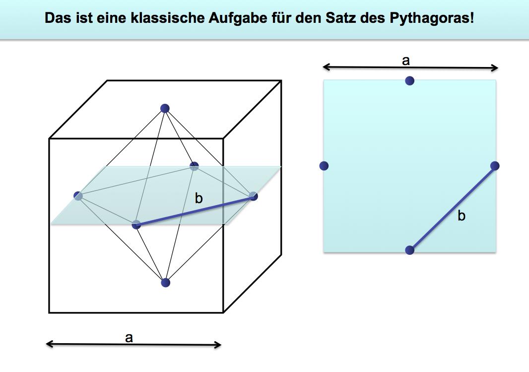 pythagoras oktaeder berechnen mit hilfe pythagoras. Black Bedroom Furniture Sets. Home Design Ideas